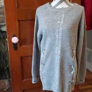 It's our time Sweater, Grey, Size Large Extra Long
